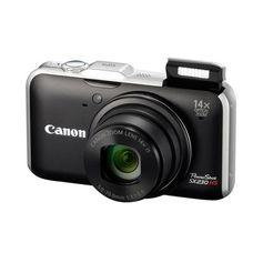 Camera-Canon-Powershot-SX230-HS-12.1-Megapixels-14x-de-Zoom-Otico---Preta--