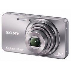 Camera-Sony-Cyber-Shot-DSC-W570-16.1-Megapixels-Zoom-Optico-5x-Foto-Panoramica-Filma-em-HD-LCD-2.7--e-Bateria-Recarregavel---Prata