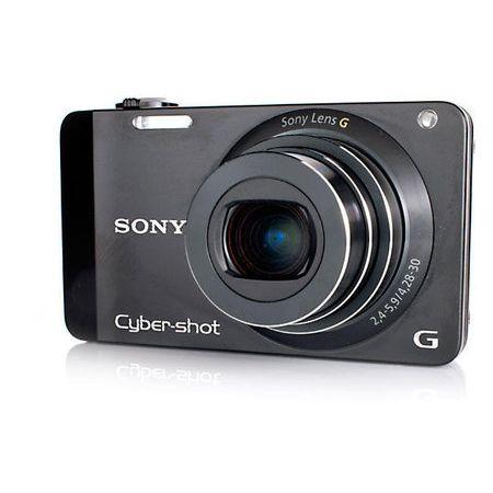 Camera-Digital-Sony-Cyber-shot-DSC-WX10-16.2-Megapixels-7x-de-Zoom-Optico---Preta---