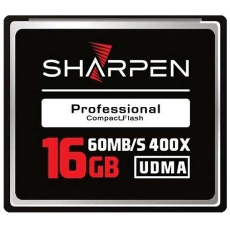 Cartão Compact Flash 16Gb Sharpen 60Mb/s (400x), UDMA5