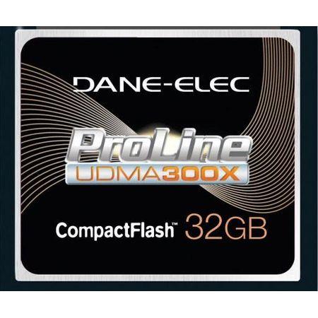Cartão Compact Flash 32Gb Dane-Elex Proline 300X UDMA de Alta Performance