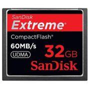 Cartão Compact Flash 32Gb SanDisk Extreme 60Mb/s 400x