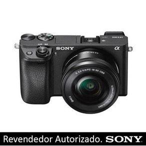 Câmera Sony Alpha A6300 L Mirrorless com Lente 16-50mm f/3.5-5.6 OSS