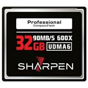 Cartão Compact Flash 32Gb Sharpen 90Mb/s (600x), UDMA6
