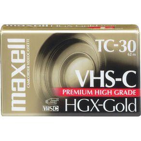 Fita VHS TC30 Maxell HGX-Gold Premium High