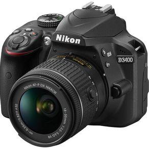Camera-Nikon-D3400-com-Lente-18-55mm-f-3.5-5.6G-VR