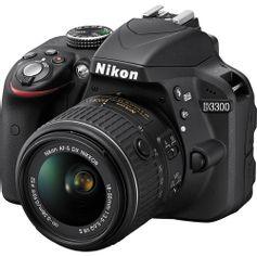 Camera-Nikon-D3300-com-Lente-18-55mm-f-3.5-5.6G-VR-II-DX-Nikkor