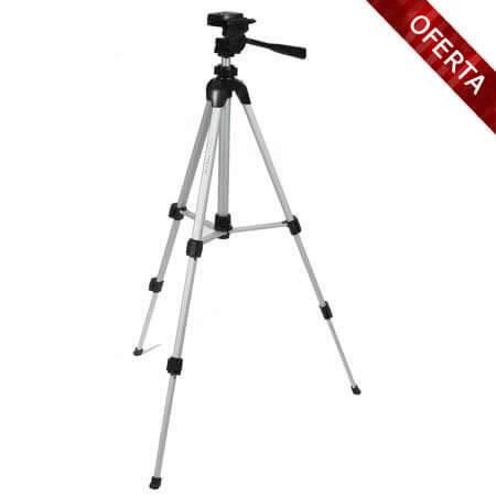 Tripe-com-Cabeca-TR-541N-para-Cameras-e-Filmadoras-ate-2Kg---Prata---Com-bolsa