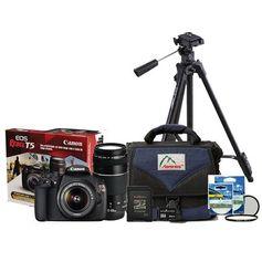 Kit-Camera-Canon-T5-com-Lente-18-55mm---Lente-75-300mm---Cartao-SDHC-de-8Gb---Filtros-UV-e-CPL-58mm---Bolsa-Profissional---Tripe-Profissional