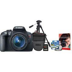 Kit-Canon-T5i-com-Lente-18-55mm---Cartao-SDHC-de-8Gb---Filtros-UV-e-CPL-58mm---Bolsa-Profissional---Tripe-Profissional