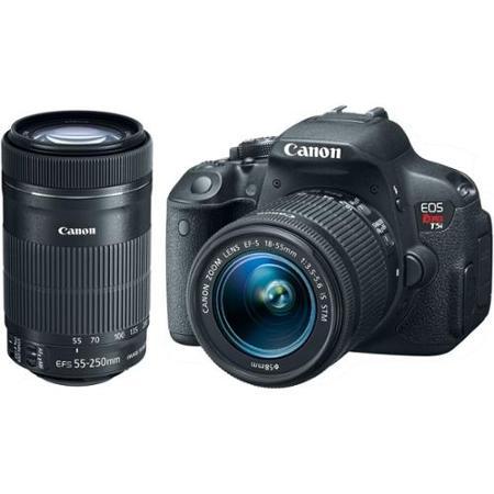 Kit-Premium-Camera-Canon-T5i-com-Lente-Canon-EF-S-18-55mm-STM-e-Lente-Ef-S-55-250mm-II