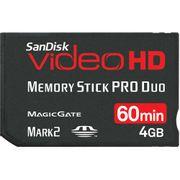 Cartão Memory Stick Pro Duo 4Gb Sandisk