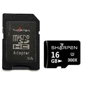 Cartão Micro SD 16Gb com Adaptador Sharpen 45Mb/s Classe 10
