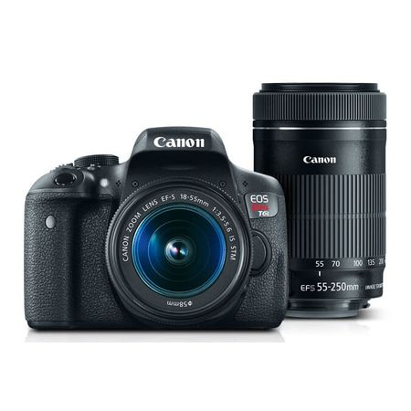 Kit-Camera-Canon-EOS-T6i-com-Lente-EF-S-18-55mm-IS-STM---EF-55-250mm-IS-STM