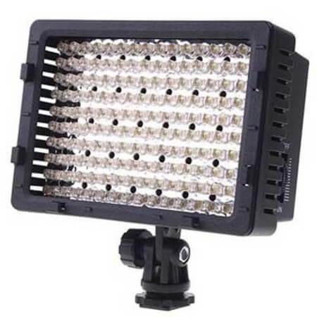 Iluminador Led SunGun 183 Leds Video Light com Bateria
