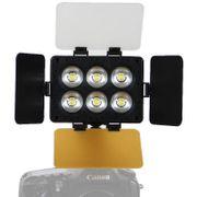 Iluminador-de-LED-T6D-para-Cameras-e-Filmadoras