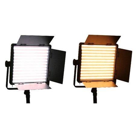 Refletor---Iluminador-de-600-Leds-BiColor-Tungstenio-com-Suporte-para-Bateria-V-mount