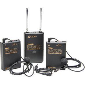 Kit-Duplo-Microfone-Lapela-sem-fio-Azden-WDL-PRO