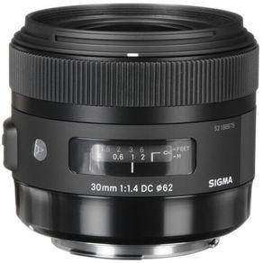 Lente Sigma 30mm f 1.4 EX DC HSM   Em até 10X sem juros  - eMania Foto e  Vídeo 08c20797dd