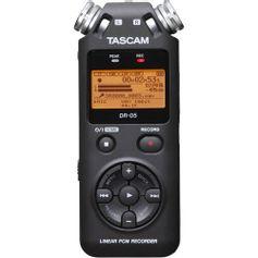 Gravador-Digital-Portatil-Tascam-DR-05-com-Memoria-de-2-GB