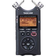 Gravador-Digital-Tascam-DR-40-com-MicroSD-de-2GB