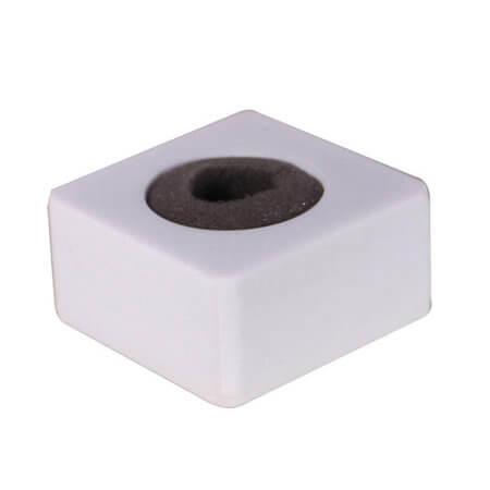 Canopla-Quadrada-para-Microfone-de-Mao---Branca