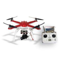 Drone-Free-X2-FPV-com-Gimbal-para-GoPro-Hero3-e-Hero3--e-Hero4---Vermelho