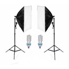 Kit-de-iluminacao-para-Estudio-Fotografico-com-2-Softbox-de-70cm-e-2-Lampadas-135w