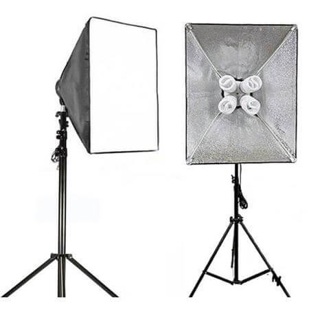 Kit-de-Iluminacao-com-Softbox-50x100cm-4-Lampadas-de-70w-e-Tripe-de-iluminacao