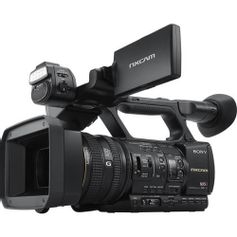 Filmadora-Sony-HXR-NX5R-NXCAM-com-LED-Light