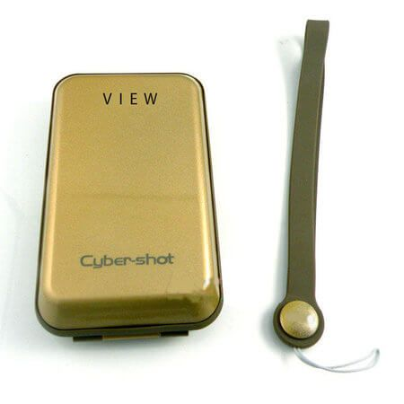 Case-Rigido-para-Cameras-Sony-Cyber-shot---Dourado