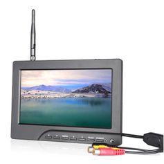 Monitor-FPV-Led-7--Entrada-RCA---AV-e-Receptor-Wireless-5.8GHz