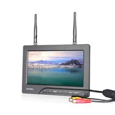 Monitor-FPV-7--com-Entrada-RCA-e-Receptor-Wireless-5.8GHz