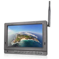 Monitor-FPV-Led-7--Full-HD-Entrada-HDMI---AV-e-Receptor-Wireless-5.8GHz