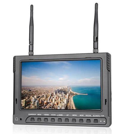 Monitor-FVP-7--com-Entrada-HDMI-Receptor-Wireless-5.8GHz-e-Bateria-Interna