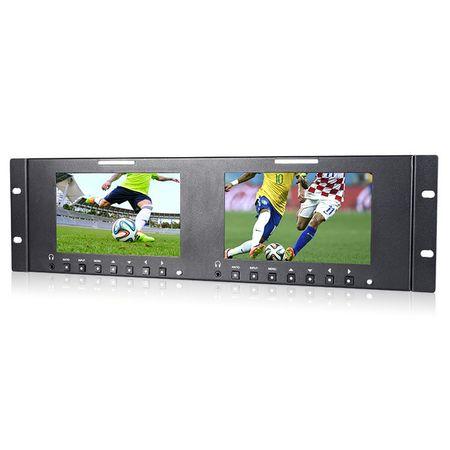 Monitor-Duplo-de-7--HD-com-Montagem-de-Rack-para-Broadcast