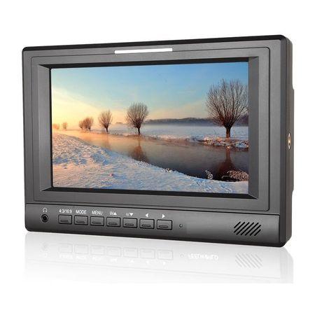 Monitor-FPV-Led-7--HD-com-Entrada-HDMI-Ypbpr-e-AV-para-Baterias-V-Mount