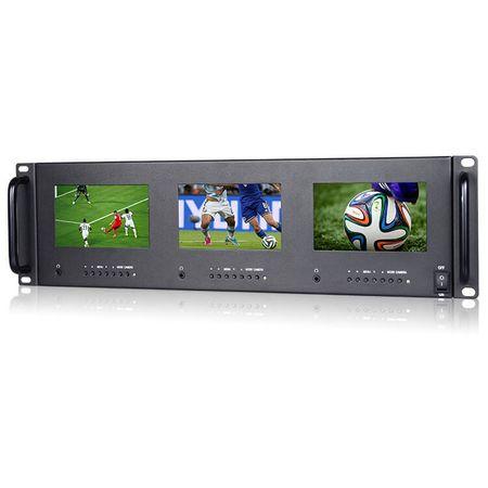 Monitor-Triplo-de-5--HD-com-Montagem-de-Rack-para-Broadcast