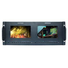 Monitor-Duplo-de-7--SDI-com-Montagem-de-Rack-para-Broadcast