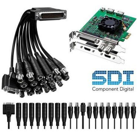 Placa-de-Captura-DeckLink-Studio-BlackMagic-2-Placas-de-video-SD---HD-com-SDI-HDMI-e-Conexoes-Analogicas