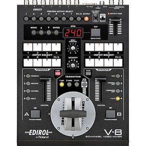 Video-Mixer-Roland-V-8-de-8-Canais-Live-Video-Efeitos-Switcher