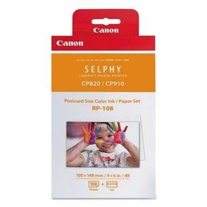 Papel-Fotografico-e-Toner-Canon-RP-108IN-para-Impressoras-Canon-Selphy-CP1000-CP910-CP820