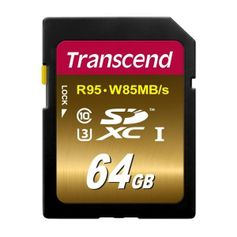 Cartao-SD-64Gb-Transcend-Ultimate-de-95MB-s-Classe-10-UHS-I-4K