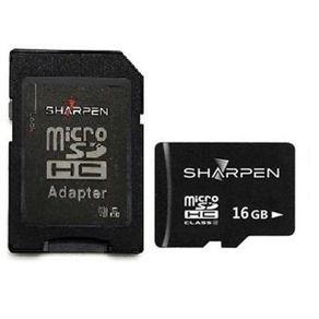 Cartao-Micro-SD-16Gb-com-Adaptador-Sharpen-20-Mb-s-Classe10