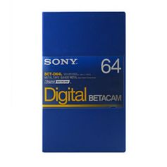 Fita Betacam Sony BCT-D64L de 64 Minutos