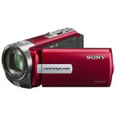 Filmadora Sony Handycam DCR-SX65 - 4GB de memória interna, Zoom Ótico 60x, Vermelha