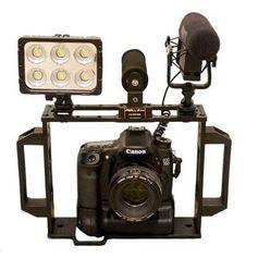 Gaiola-para-Camera-DSLR-Leds-e-Microfones