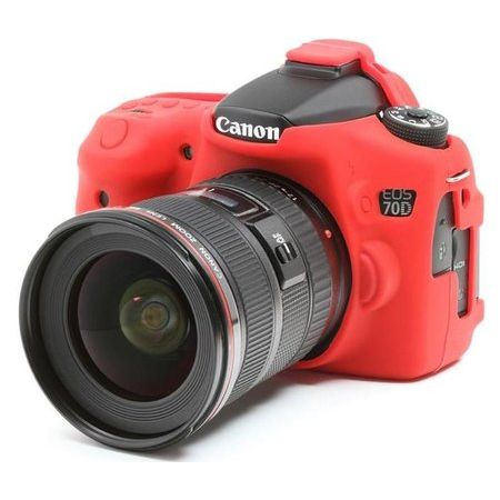 Capa-de-Silicone-para-Canon-70D---Vermelha
