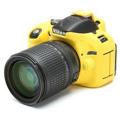 Capa-de-Silicone-para-Nikon-D5200---Amarela