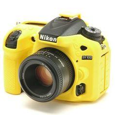Capa-de-Silicone-para-Nikon-D7100-e-D7200---Amarela